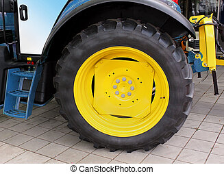 Truck tire - Big tire on agriculture tractor machinery truck