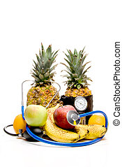Healthy Fruit - A bunch of healthy fruit getting a medical...