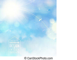 White spots on blue background Vector illustration