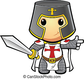 Knight Pointing Holding Sword