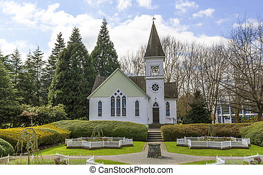 Country church - Photo of country church at summer day
