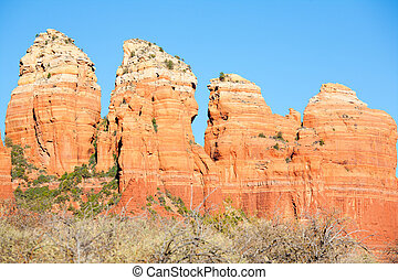 Red Rocks Formations in the high desert in Sedona, Arizona