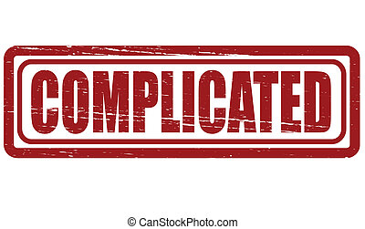 Complicated - Stamp with word complicated inside, vector...
