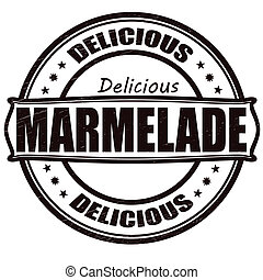 Delicious marmalade - Stamp with text delicious marmalade...