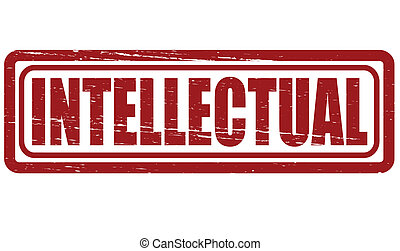 Intellectual - Stamp with word intellectual inside, vector...