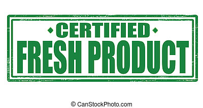Fresh product - Stamp with text fresh product inside, vector...