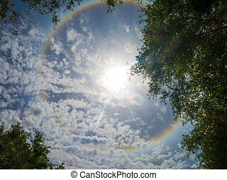 Solar Ring - Large colorful rainbow Ring around the sun...