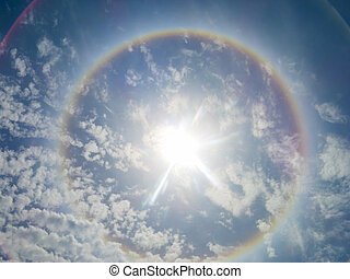 Solar Ring3 - Large colorful rainbow Ring around the sun...