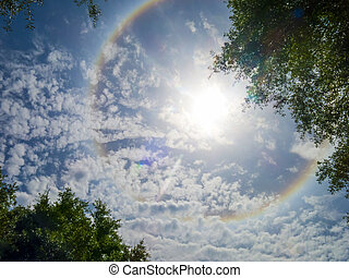 Solar Ring2 - Large colorful rainbow Ring around the sun...