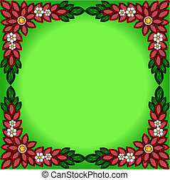 background frame with flowers of jewels