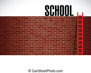 education school ladder illustration design