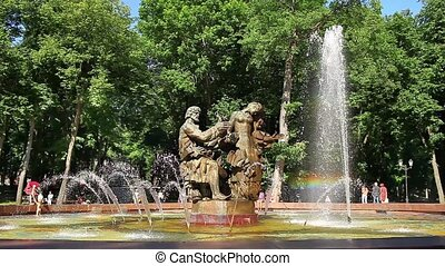 fountain creating a colorful rainbo - Fountain Sadko and...