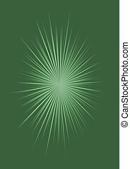 Abstract green background with sunburst