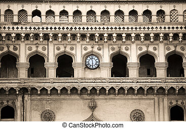 Architecture of Charminar - Detail architecture of 400 year...