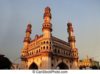 Charminar - 400 year old majestic Charminar in Hyderabad,...