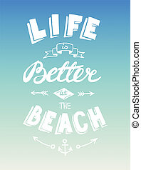 Hand drawn summer quotation - Hand drawn graphical summer...