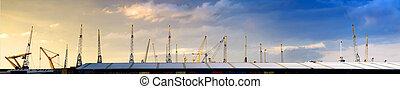 Cranes skyline