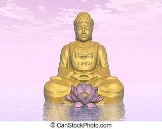 Meditation - 3D render