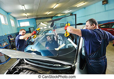 windshield windscreen replacement - Automobile glaziers...