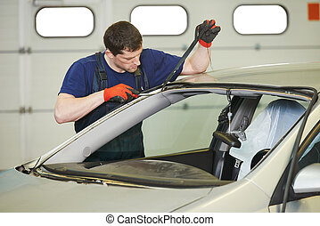 windshield windscreen replacement works - Automobile glazier...