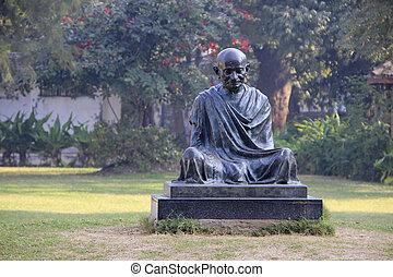 statua, Mahatma, Gandhi