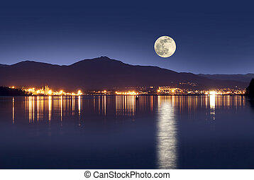 Nanaimo in the night - Nanaimo, British Columbia, Canada