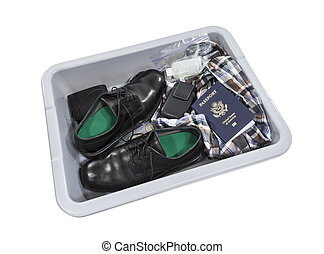 Airport Screening Security Tray