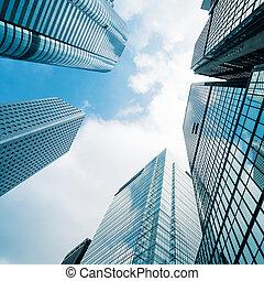 business - modern business center in hongkong