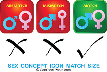 Sexual concept icon match size vect