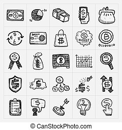 doodle financial icons