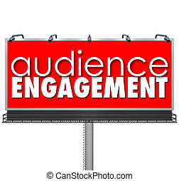 Audience Engagment Billboard Advertising Customers Outreach...