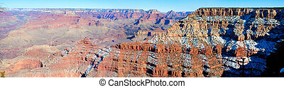 Grand Canyon - Panoramic view of south rim of the Grand...
