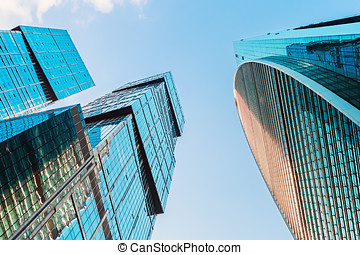 skyscrapers Moscow International Business Center Moscow-City...