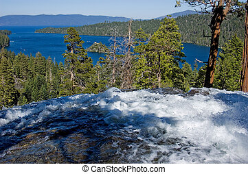 Waterfall at Emerald Bay, Lake Tahoe California