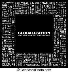 GLOBALIZATION. Background concept wordcloud illustration....