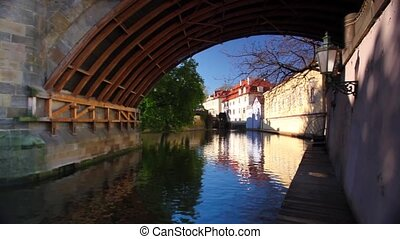 View of Certovka river - View of Certovka under the Charles...