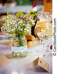 Wedding table decoration - Beautiful floral table decoration...