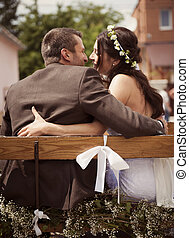 Bride and groom - Beautiful bride and groom at country style...