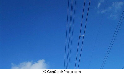 Power Lines In Country - Power lines and towers in country