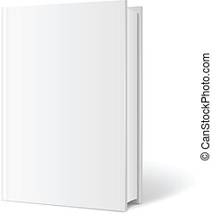 Vector blank book cover perspective Vertical Template White...