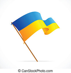 Vector liiustration Ukraine Flag