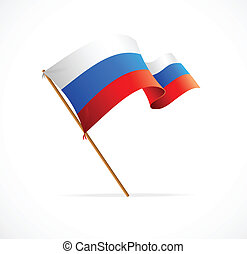 Vector illustration Russia flag