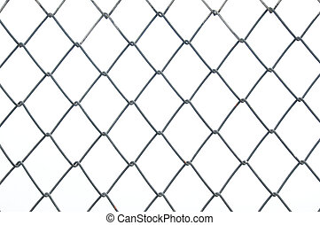 Chainlink metal wire fence