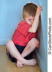 niño, abuso, concepto