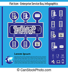 Enterprise technology infographics - Enterprise application...