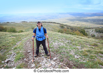 Man on mountain Grobnicke Alpe - A man hiking on the...
