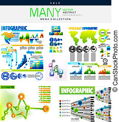 Infographics collections vector illustration - mega...