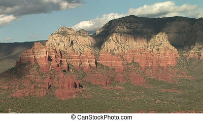 Sculpted Red Rock Formations of Sedona - Zoom in shot of Red...