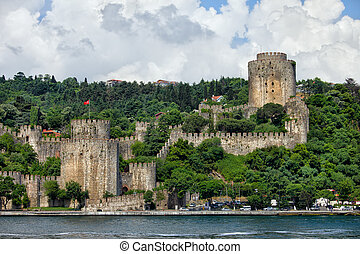 Rumeli Hisari by the Bosphorus Strait in Istanbul - Rumeli...