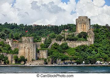 Rumeli Hisari by the Bosphorus Strait in Istanbul - Rumeli...